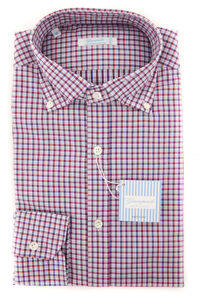 Giampaolo Red Plaid Shirt - Extra Slim - 16 41 - (618GP468-42)