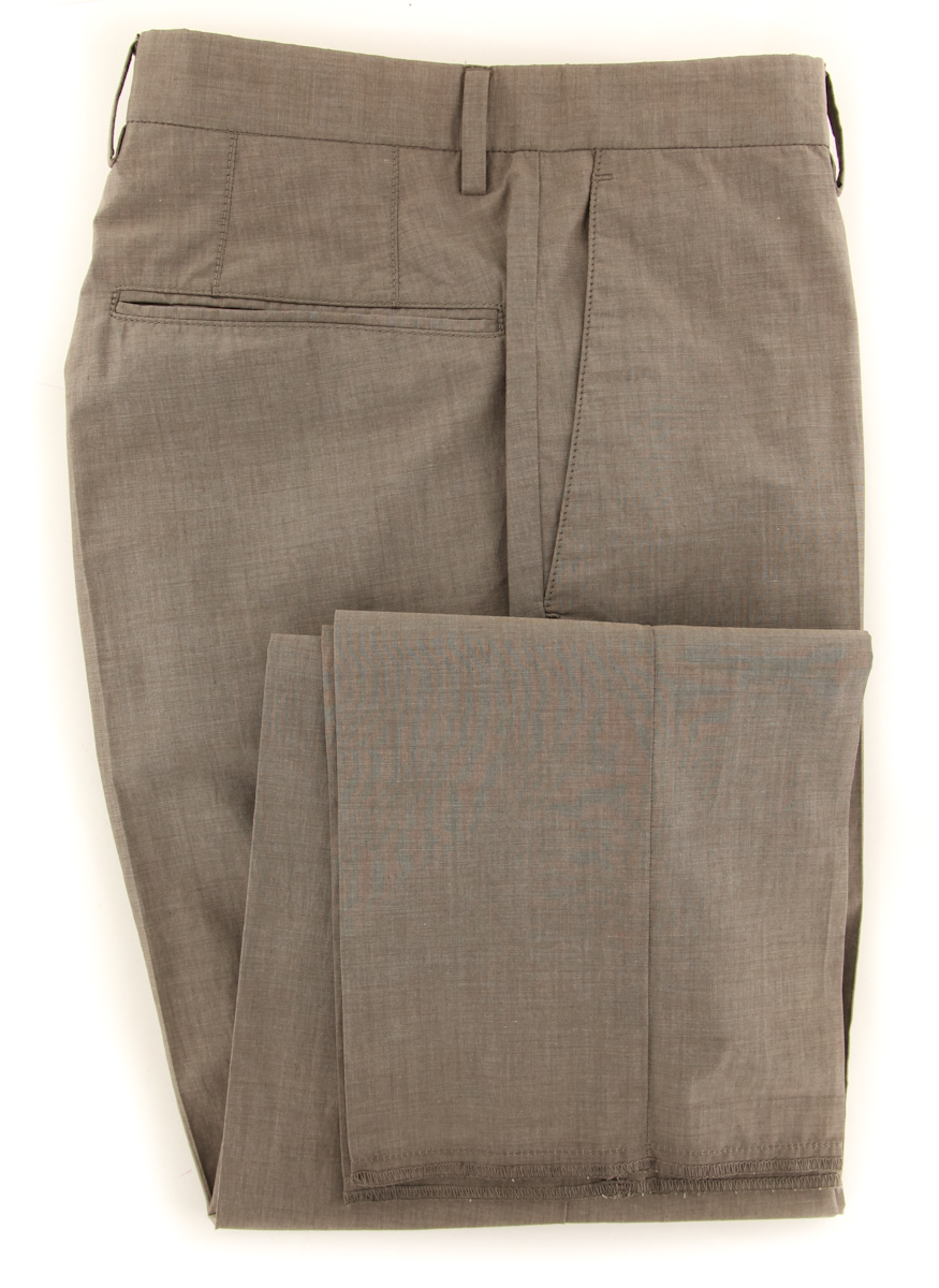 New  Incotex Light Brown Solid Pants - Slim - 38 54 - (IN5289425)